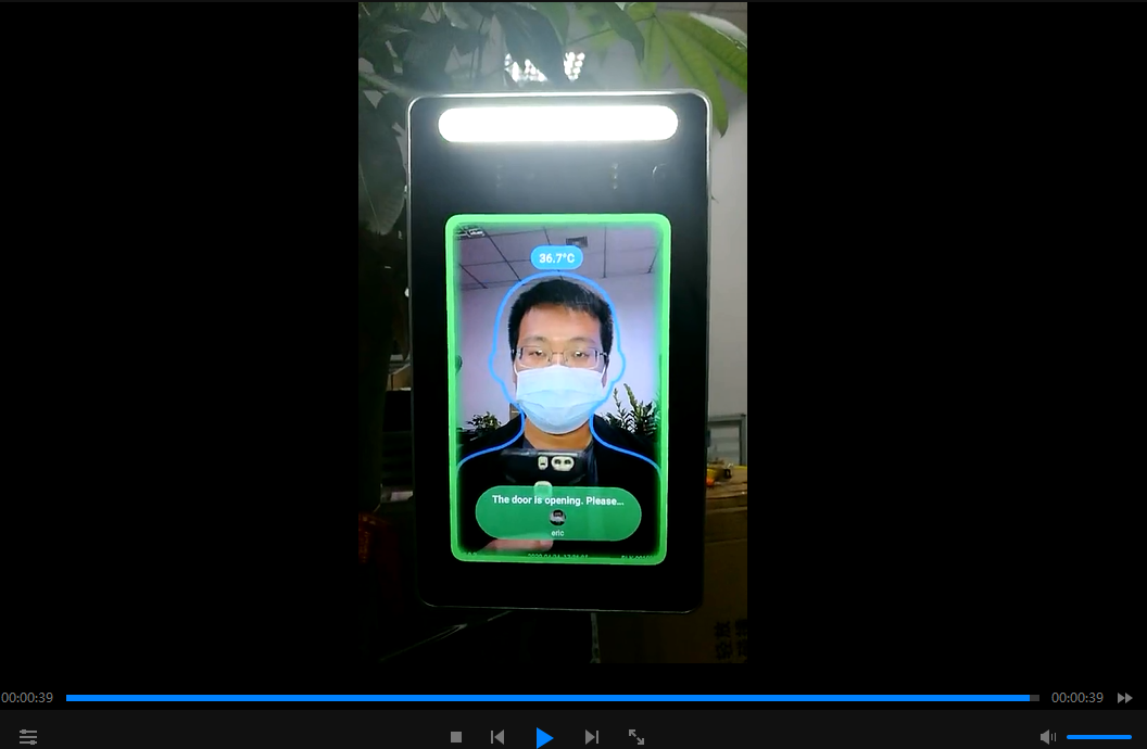 How to register face to the Temperature Face Recognition Device